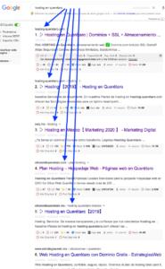 Ejemplo de posicionamiento web en Google